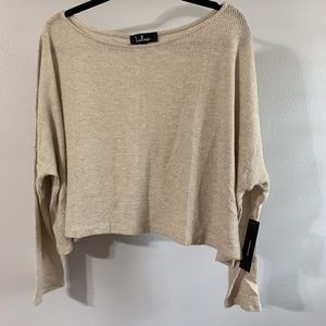 Lulu's Cropped Scoop Neck Top Size L